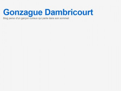 Blog de Gonzague Dambricourt