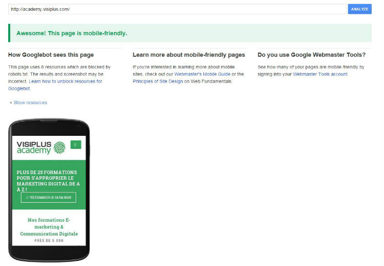 google-mobile-test-tool