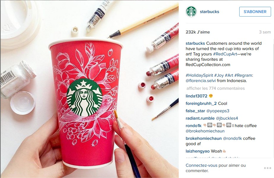 Starbucks Coffee  (@starbucks) • Photos et vidéos Instagram - Mozilla Firefox