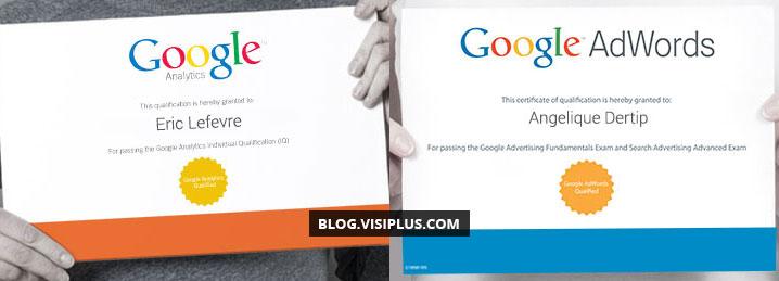 Formation Google AdWords Certification et Google Analytics Certification : 100% de réussite pour nos participants !