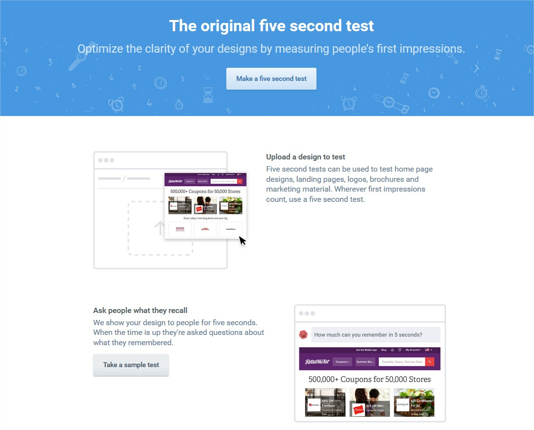 The original Five Second Test • UsabilityHub - Mozilla Firefox
