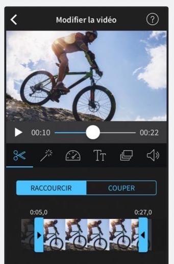 couper vidéo iphone