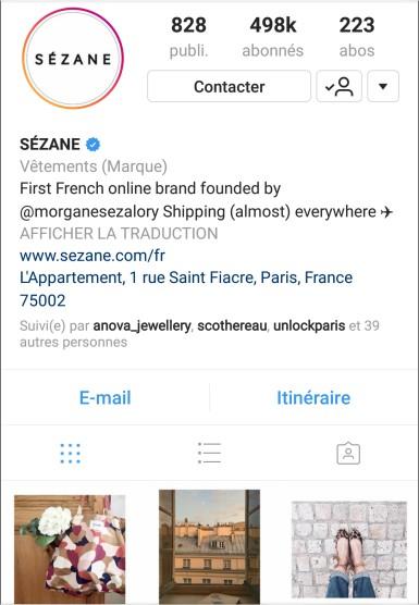 Source : Instagram X Sezanne