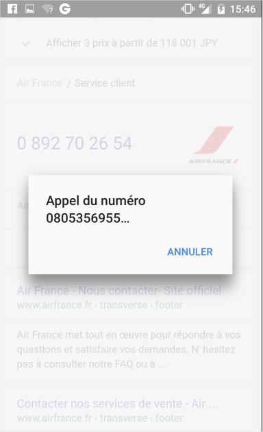 Source : Google Air France
