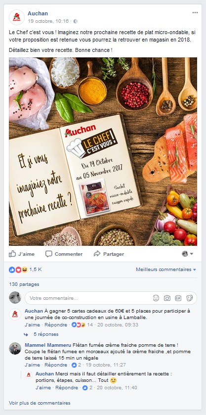 Source : Auchan Facebook