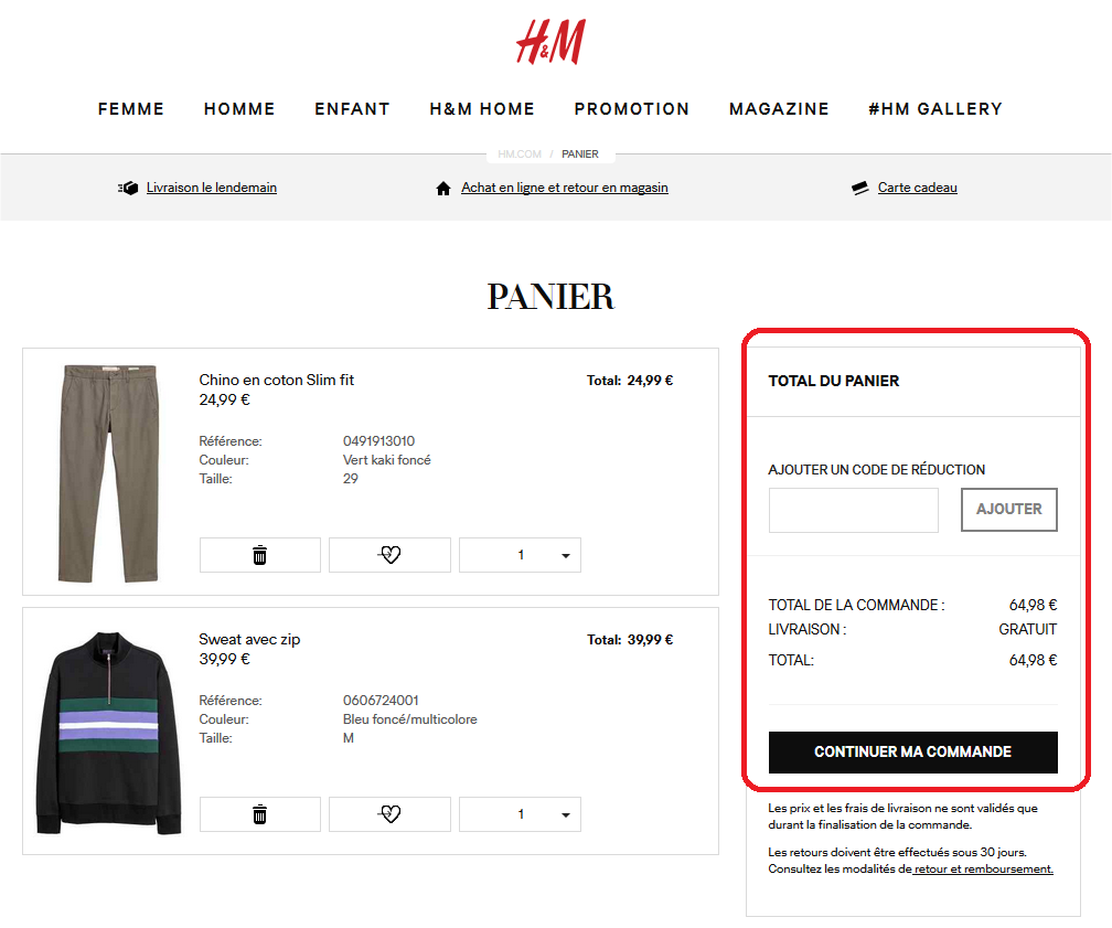 Source : H&M France