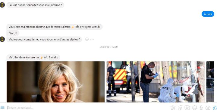 Chatbot FranceInfo