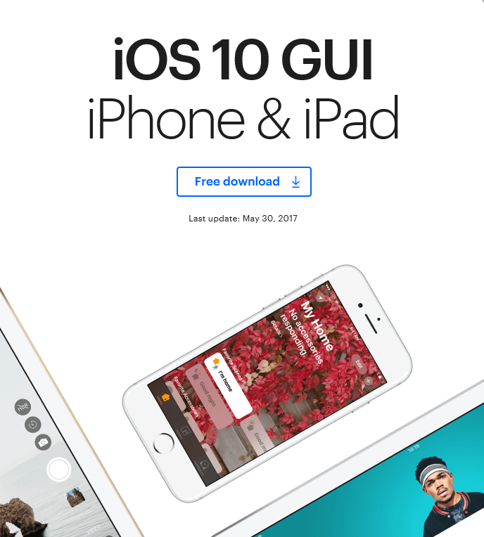 IOS GUY Ipad Iphone UI Kit