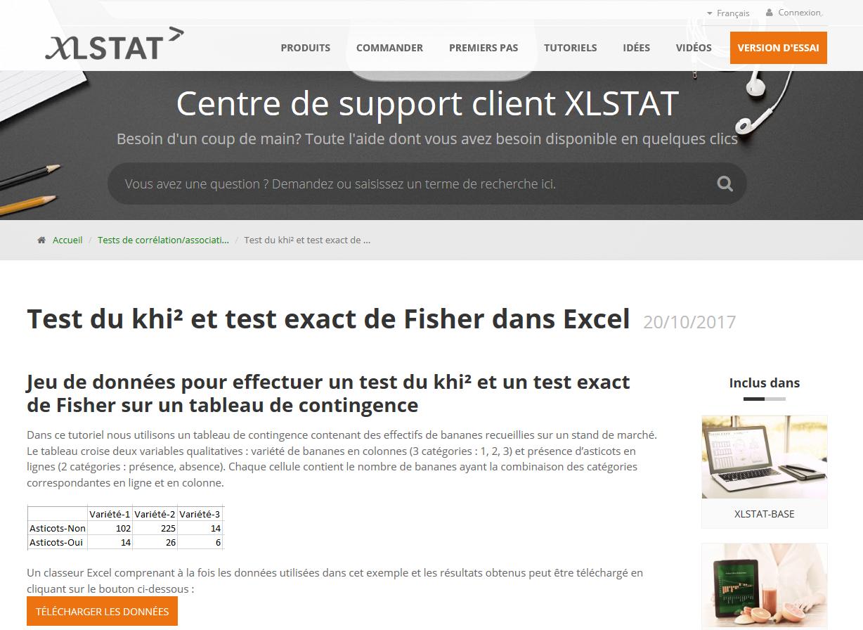 OUTIL XLSTAT analyse marché demande client potentiel