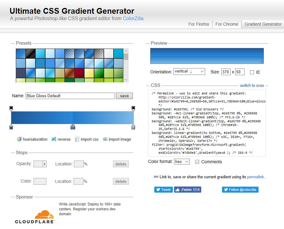 Source image : CSS gradient generator