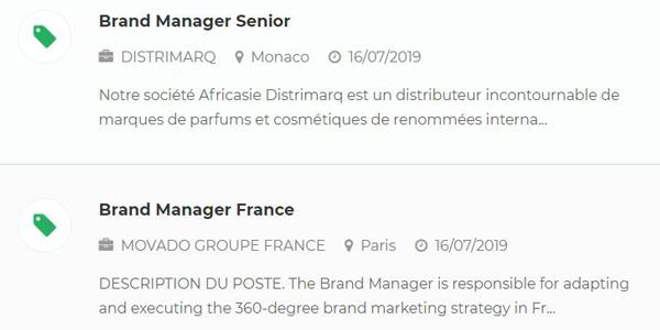 brand manager emploi