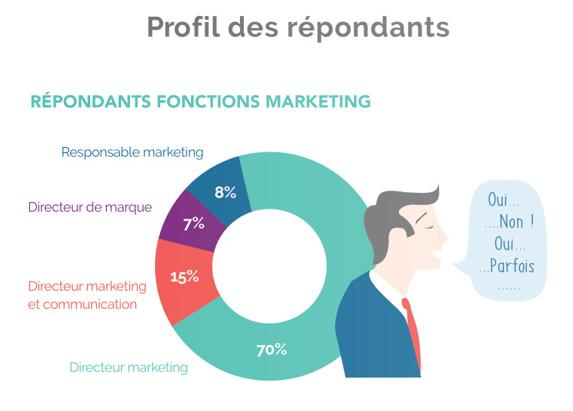 Représentation des profils des professionnels du marketing ayant répondu à l'enquête