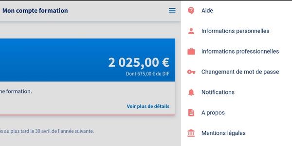 Comment remplir les informations de vos comptes sur l'application CPF