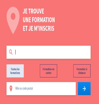 Trouver une formation professionnelle via le moteur de recherche sur MonCompteFormation
