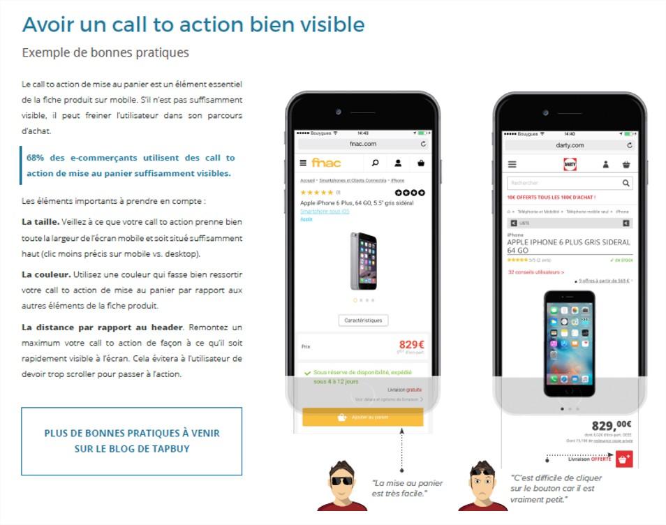 Avoir un call to action visible