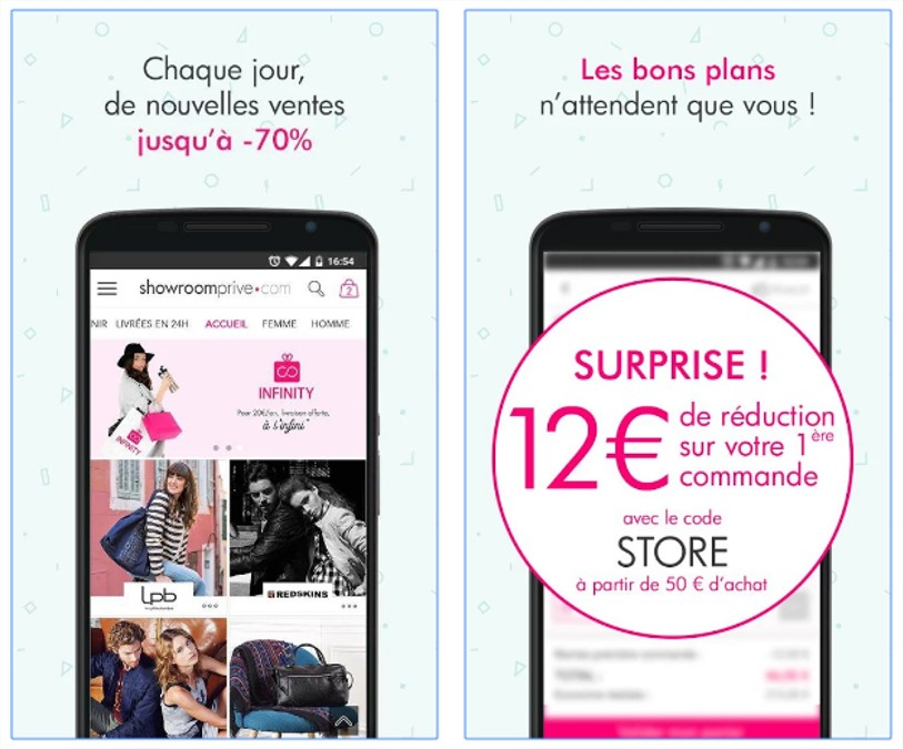 la campagne mobile showroom prive