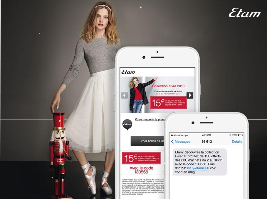 La campagne SMS Etam