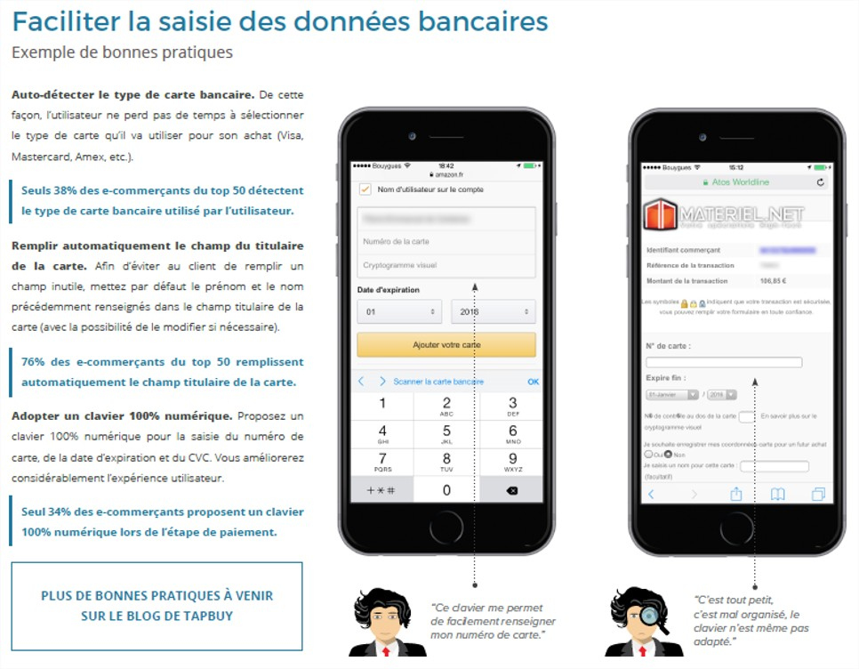 Faciliter la saisie des données bancaire
