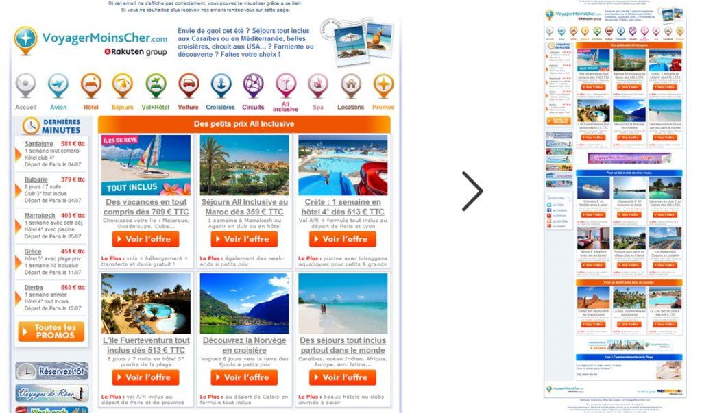 Maquettage email sans pyramide inversée