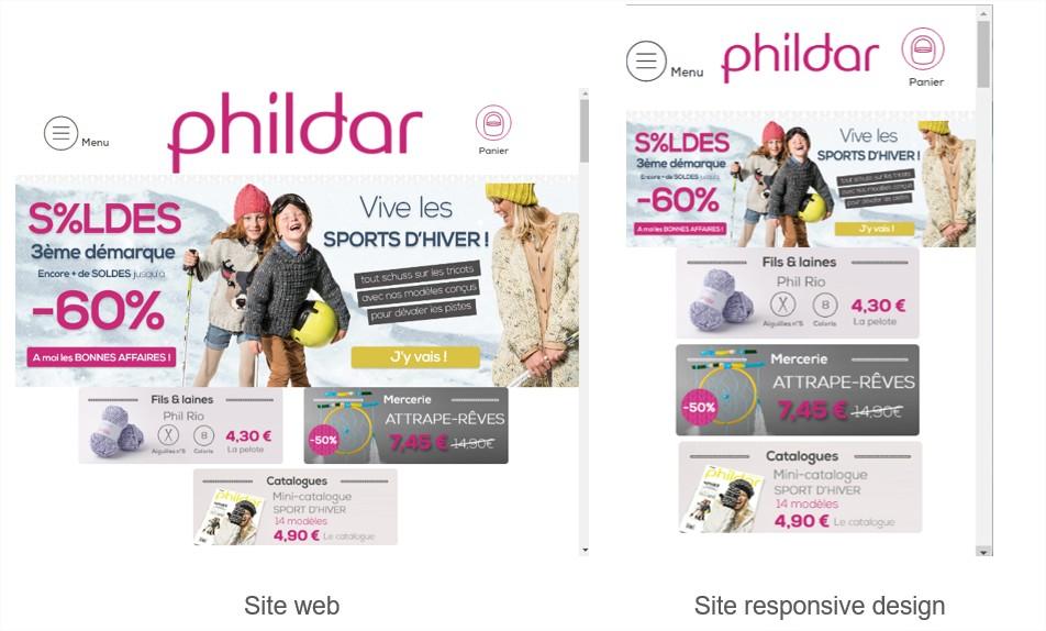 site web et site responsive