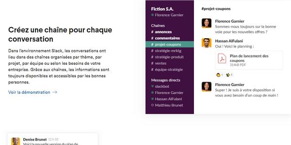 Slack fait partie des outils envisageables pour manager à distance