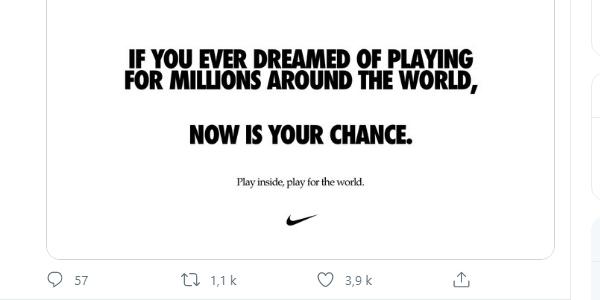 """""""Play inside, play for the world"""", la campagne de communication de Nika durant la pandémie Covid-19"""