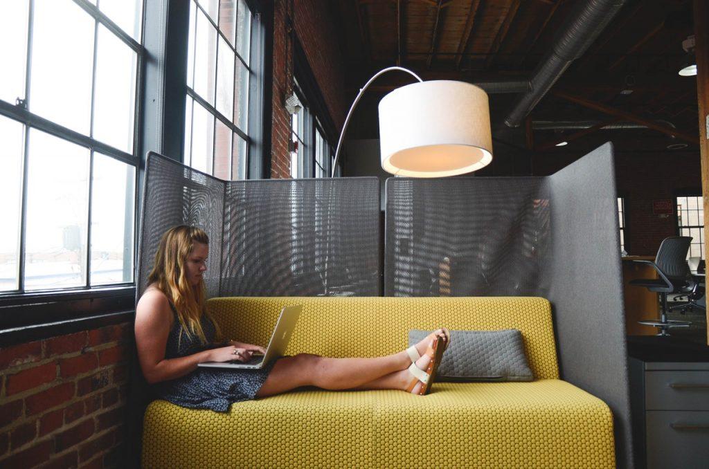 Freelance dans un espace de coworking