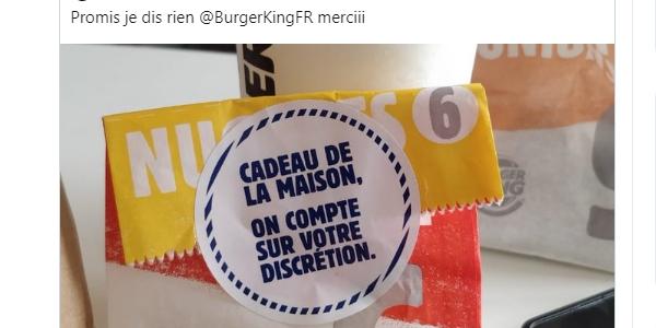 Campagne marketing de Burger King France pendant la crise