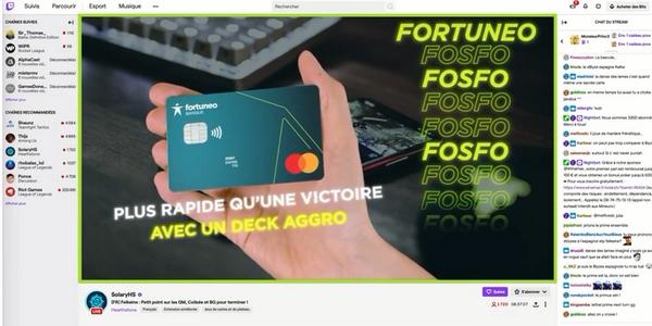 """Pour la campagne Twitch FOSFO, les messages reprenaient des termes spécifiques à chaque jeu du type"""" Plus rapide qu'une victoire avec un Deck Aggro""""."""