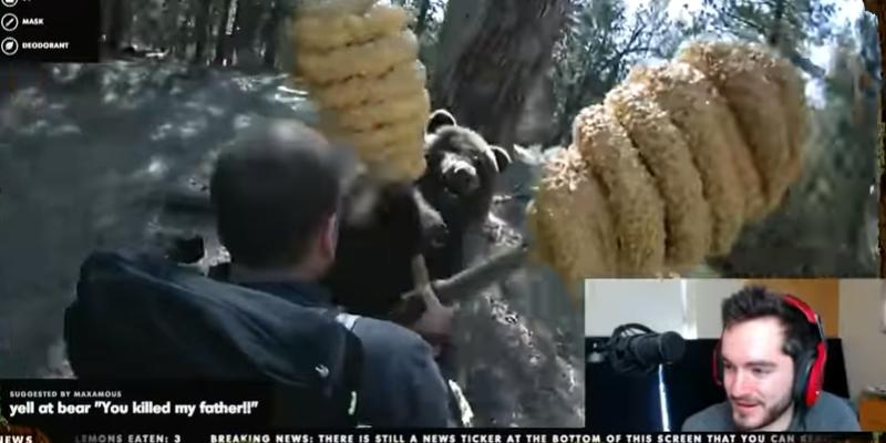 Le combat contre l'ours reste l'un des temps forts de la campagne Old Spice sur Twitch.