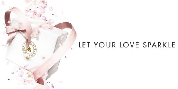 """Guerlain déploie la campagne """"Let Your Love Sparkle"""" à l'approche du 14 février."""