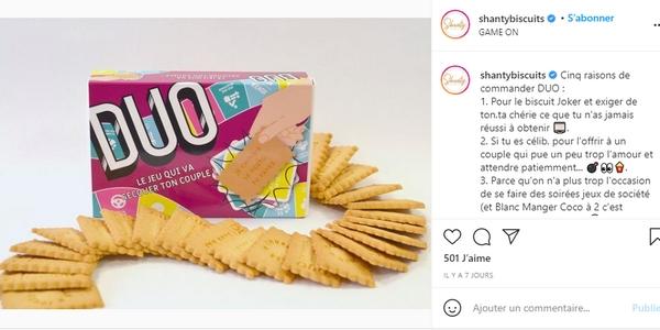 La campagne de Saint-Valentin 2021 de Shanty Biscuits fait la part belle à l'humour.