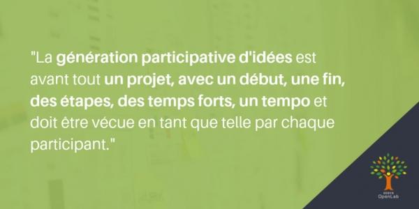 idéation collective : avant tout un projet avec des étapes bien définies.