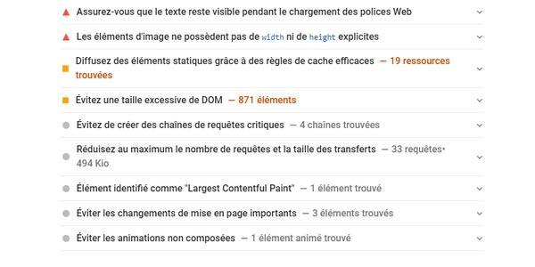 PageSpeed Insights peut vous donner de bons conseils pour optimiser les performances de vos pages web.