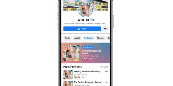 Facebook audio social : les podcasts arrivent en 2021 !