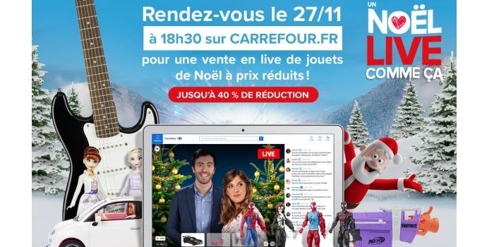 live streaming e-commerce : Carrefour a lancé une très grande opération pour les fêtes de Noël 2020.