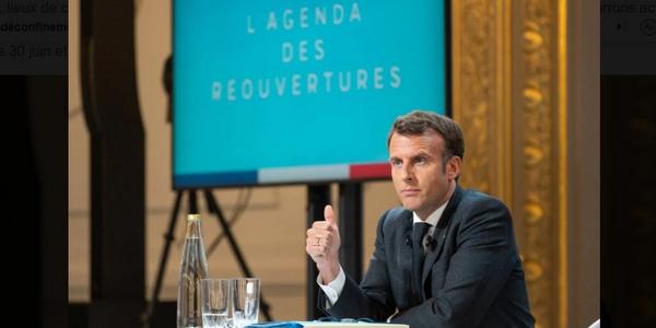 retour au bureau : Emmanuel Macron annonce l'assouplissement du télétravail pour le 9 juin 2021.