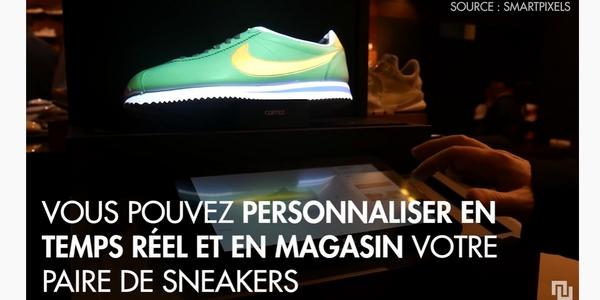 Nike fait partie des marques pionnières dans le V-commerce dans le secteur de l'habillement.