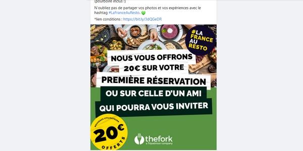 La campagne marketing de TheFork a été très remarquée durant l'été 2021.